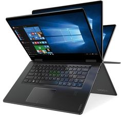 "Lenovo - Yoga 710 2-in-1 15.6"" Touch-Screen Laptop - Intel Core i5 - 8GB Memory - 256GB Solid State Drive - Black"