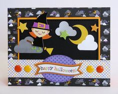Doodlebug+Halloween+Parade+Witch+Card+by+Mendi+Yoshikawa - Scrapbook.com