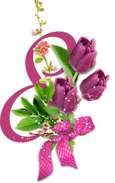 Flower Logo, Sweet Stories, Happy Woman Day, 8th Of March, Illustrations And Posters, Beautiful Roses, Cookie Decorating, Decoupage, Congratulations