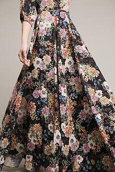 Garden Grown Maxi Dress, Black