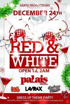 Palais Hotel #adelaide #nightlife #christmas #xmas #palaishotel #redandwhite #christmaseve #placetobe