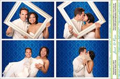 Blue Photo Booth Background
