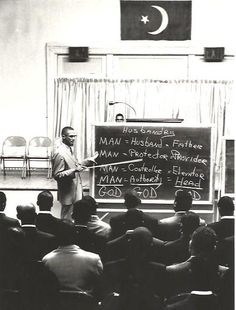 Is that Malcolm X teaching this class for the Nation of Islam?