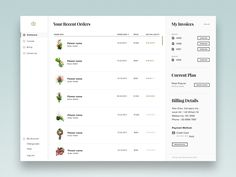 Hey guys,  Here is a customer dashboard that gives you a quick overview your recent orders and other info. Service provides flowers arrangement for businesses.  Have a great week! - Alex
