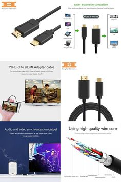 Nice Huawei MateBook 2017:  USB 3.1 USB-C Type C to HDMI  Cable Thunderbolt 3 USB C cable 3.1...  Cables & Connectors Check more at http://mytechnoshop.info/2017/?product=huawei-matebook-2017-visit-to-buy-usb-3-1-usb-c-type-c-to-hdmi-cable-thunderbolt-3-usb-c-cable-3-1-cables-connectors