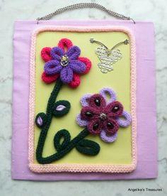 Angelika's Treasures: Punnik Bloemen - Spool Knitted Flowers