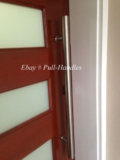Set of long door curved push pull handles modern entryway design entry pull handle front entrance ladder glass door stainless steel back to back planetlyrics Image collections