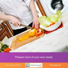 To set yourself up for #success, think about #planning a #healthydiet as a number of small, manageable steps like #cooking your own meals. It can help you take charge of what you're eating and better monitor exactly what goes into your #food. #ResetApproved #lifestyle