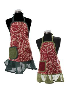Holiday Patchwork Mommy & Me Apron Gift Set by Evergreen Enterprises