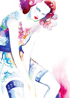 Fashion Illustration Print   Nr 2 by studiodelafosse on Etsy, €15.00
