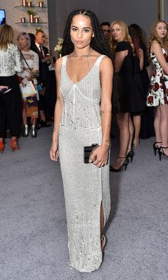 Ethereal beaut Zoe Kravitz can even make eveningwear look edgy.