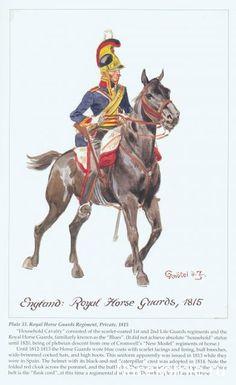 BRITISH ARMY - Royal Horse Guards, 1815.