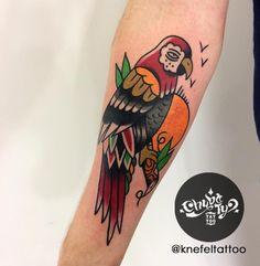 done by @KnefelTattoo at @chybatytattoo Katowice, PL  #oldschooltattoo #oldlines #traditionaltattoo #boldtattoo #vintagetattoo #tradworkers #classictattoo#vintage #traditional #oldschool #knefeltattoo #chybatytattoo #katowice #poland #tattooidea #tattoo #parrot #parrottattoo #animal #bird #birdtattoo