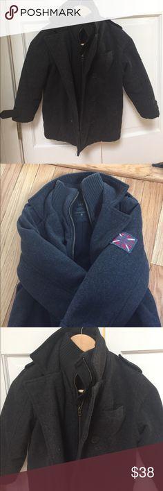 CFK KIDS SIZE 6 charcoal wool pea coat CFK KIDS SIZE 6 charcoal wool pea coat CFK Jackets & Coats Pea Coats