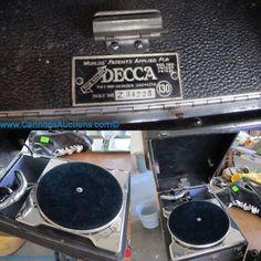 Vintage Decca record player, made in England; numbered Z34223. Bids close Sun, 20 Nov from 1pm ET. http://bid.cannonsauctions.com/cgi-bin/mnlist.cgi?redbird83/531