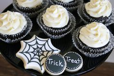 Black and White Halloween Dessert Table » Glorious Treats