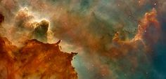 A tiny fraction of the dust like that which makes such stunning patterns in the Carina Nebula was carried to Earth in meteorites and recovered in laboratories for analysis.
