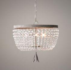 "Dauphine Medium Crystal Pendant | aged metal | 16"" diameter, 15½""H | $309 (regularly $379)"