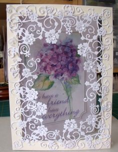 Memory Box n Acetate Hand Made Greeting Cards, Making Greeting Cards, Scrapbooking, Scrapbook Cards, Fancy Fold Cards, Folded Cards, Acetate Cards, Tattered Lace Cards, Parchment Cards