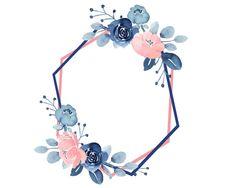 Blush & Navy wreaths and frames Border design Square frames Borders For Paper, Borders And Frames, Frame Border Design, Navy Flowers, Wedding Frames, Floral Border, Flower Backgrounds, Flower Frame, Watercolor Flowers