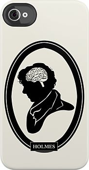 "#BBC #Sherlock ""Sherlock Holmes: The Brain"" Anatomical Silhouette iPod iPhone Case, $42 via RedBubble.Com"