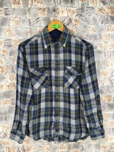 Excited to share the latest addition to my #etsy shop: Vintage Flannel Check Shirt Men/Women Medium Plaid Checkered Tartan Multicolor Grunge Button Up Flannel Size M #womenflannelshirt #multicolorflannel #menflannelshirt #checkeredflannel #90shipsterflannel #menflannelgreen #flannelchecked #distressedflannel #mediumplaidflannel