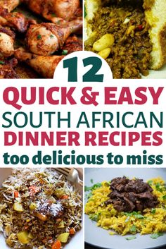 Best South African Indian food recipes that are full of flavour, spicy and incredibly satisfying. These curry, chutney, mince, and fish dishes make the best authentic and favourite food of South Afric South African Dishes, South African Recipes, Africa Recipes, South African Curry Recipe, West African Food, Indian Dishes, Mexican Food Recipes, Dinner Recipes, Oven Recipes
