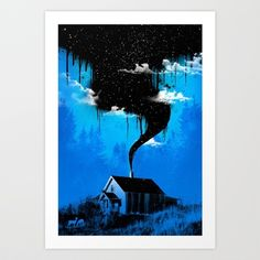 Black Smoke Art Print by Dzeri29 - $17.68