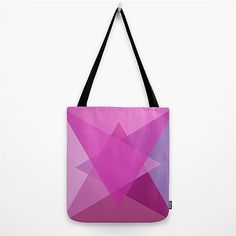 Tote Bag  Orchid Geometric  Orchid Pink Violet  for by vitadigioia, $30.00