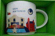 Starbucks You Are Here Mug - San Antonio (From Amanda) Starbucks Coffee Cups, Starbucks City Mugs, Starbucks Tumbler, Tea Mugs, Coffee Mugs, Tim Hortons, Coffee Club, Travel Souvenirs, Mug Cup