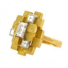 Andrew Grima 18k Gold & Diamond Ring, Circa 1972