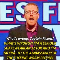 Deleted lines from Star Trek. British Humour, British Comedy, Frankie Boyle, Mock The Week, Whats Wrong, Top Gear, Fun Games, Comedians, The Funny