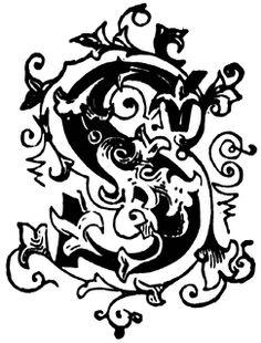 S, Ornamental letter