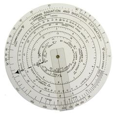 Photographs of nuclear slide-rules