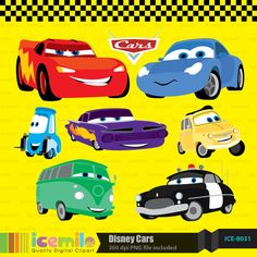Disney Cars Digital Clipart