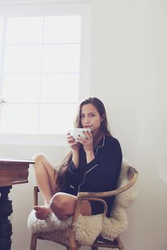 Staying comfy in our @Eberjey Intimates Intimates sleepwear