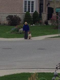 Walking my mom