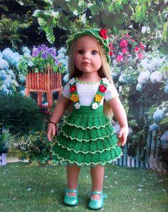Интересный наряд в зелёных тонах для Готц / Одежда и обувь для кукол своими руками / Бэйбики. Куклы фото. Одежда для кукол