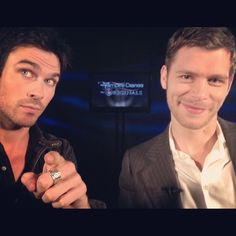 Ian Somerhalder ‏(Klaus and Damon doing interviews together... Awwwww!)
