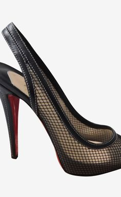 Christian Louboutin CANNE Slingback...I would SO wear these if I could afford them. oh my!
