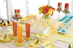 Showcase your theme throughout your party! Mary Kay® sun care products are a great fit for summertime party. You can feature lemonade, bright treats and seashells to add a special summer touch! Pamper Party, Spa Party, Selling Mary Kay, Mary Kay Party, Mary Kay Ash, Mary Kay Cosmetics, Beauty Consultant, Sun Care, Summer Time