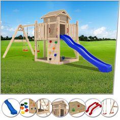 Stelzenhaus Spielturm Baumhaus Schaukel Holzspielhaus Kletterturm Rutsche: Amazon.de: Spielzeug
