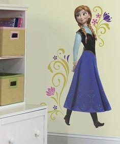 Look at this #zulilyfind! Frozen Anna Peel and Stick Giant Wall Decals by Frozen #zulilyfinds
