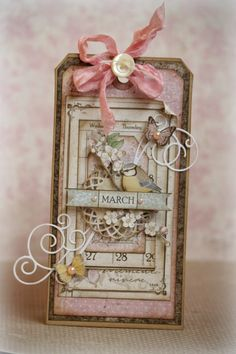 "A tag that I made with Maja Design's ""A Vintage Spring"" collection."