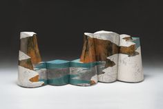 Wayne Higby Pictorial Lake 1986 glazed earthenware, raku-fired collection of Sarah H. Morabito photo by Steve Myers