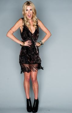 Show Me Your Mumu Saucy Fringe Dress ~ Python Velvet Burnout