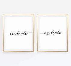 Inhale Exhale Print  • This listing is for an INSTANT DOWNLOAD printable art •  ♥︎ You will receive • 4 • printable files in the following sizes ♥︎  • 5 x 7 • 8 x 10  Each download is a high-resolution 300 dpi JPG file, excellent quality for printing  • Here is how it works •  1 Purchase