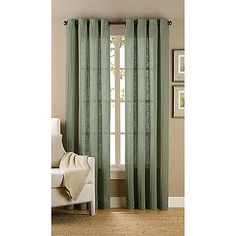 Green?? // B. Smith Origami Grommet Window Curtain Panels
