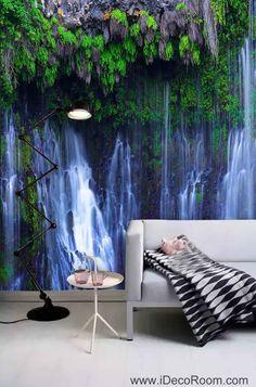 3D Wallpaper Vine Leaves Fall Wall Murals Bathroom Decals Wall Art Print Home Office Decor