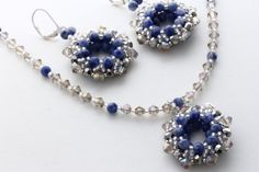 Statement Necklace and Earring Set \/ Sodalite by KalitheoCreations